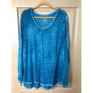 Sonoma Everyday Tee Size 3X in Burnout Blue